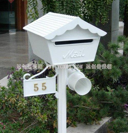 烤漆单体式别墅信报箱价格走势,单体式别墅信报箱设计,烤漆别墅信报箱效果图