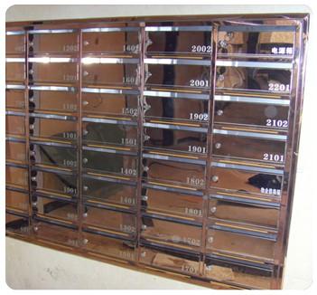 信报箱表面镀钛_不锈钢信报箱钛金门板